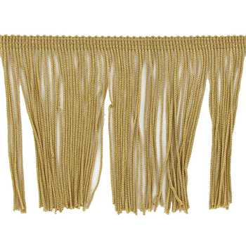 "Gold 4"" Poly Chain Fringe"